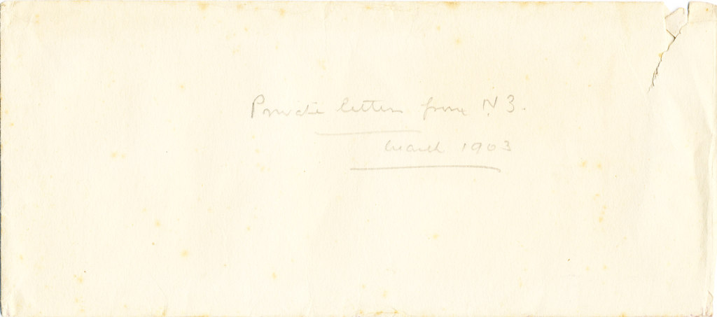 Envelope of private letters sent by William Colbeck DUNIH 1.001