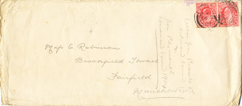 Envelope containing letters sent by William Colbeck DUNIH 1.004