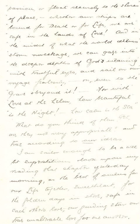 Letter from William Colbeck to Edith Robinson DUNIH 1.007