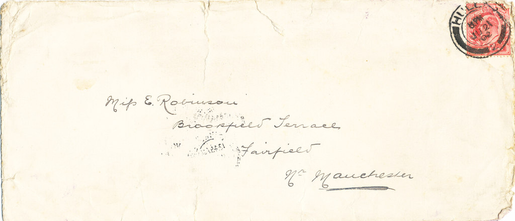 Envelope containing a letter by William Colbeck DUNIH 1.010