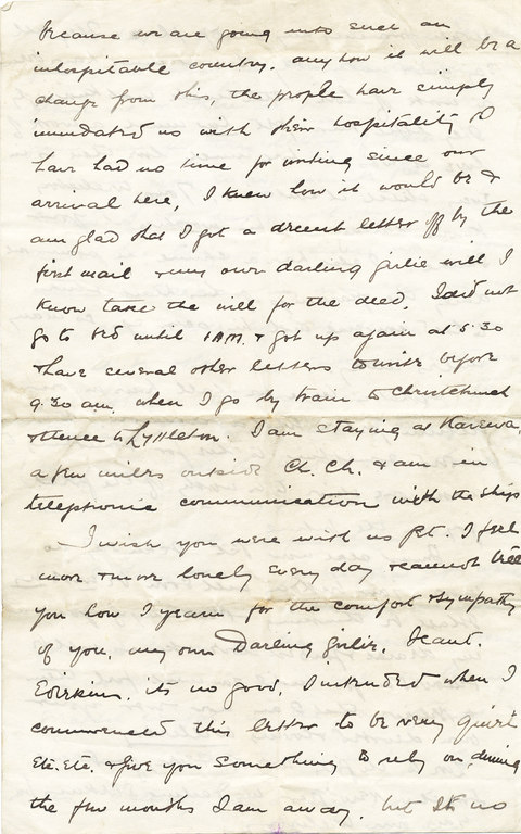 Letter from William Colbeck to Edith Robinson DUNIH 1.011