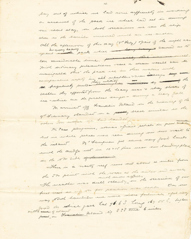 Copy extracts of Colbeck's diary sent to Sir C. Markham DUNIH 1.020