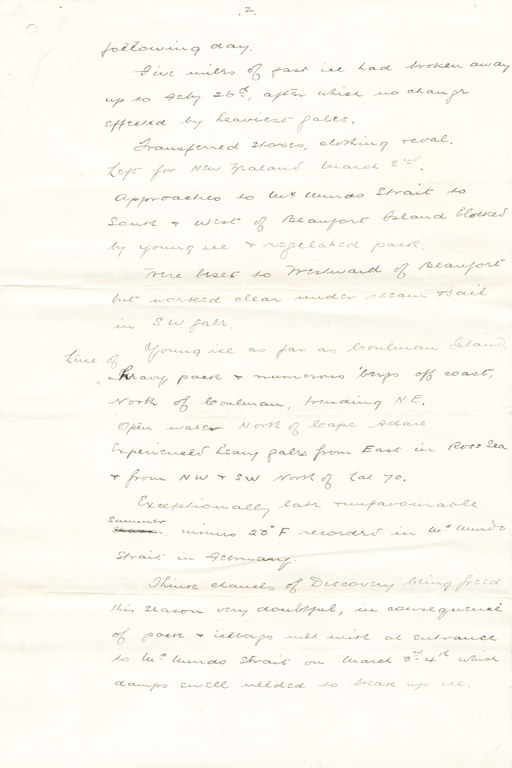 Draft copy of telegram sent from the Morning, 1903 DUNIH 1.024