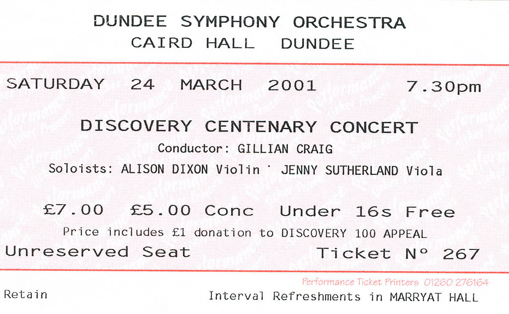 Dicovery Centenary Concert DUNIH 2010.46.3