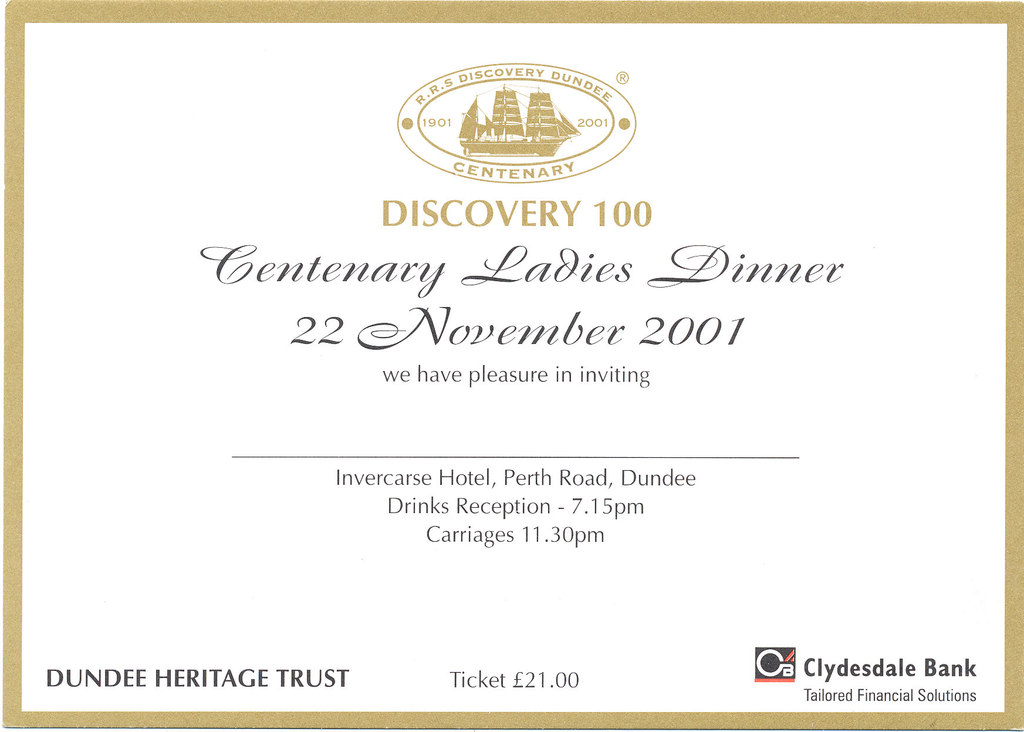 Discovery 100 Centenary Ladies Dinner DUNIH 2010.46.7