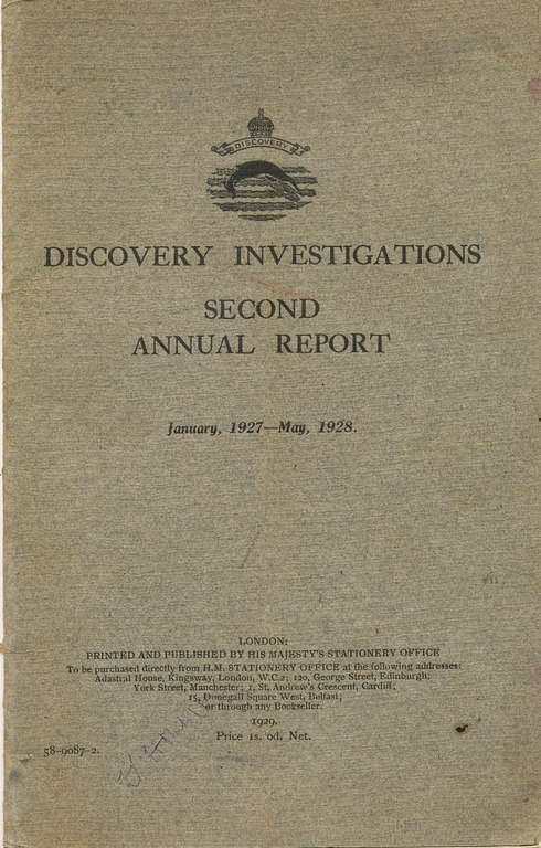 Discovery Investigations Jan 1927-May 1928 DUNIH 399