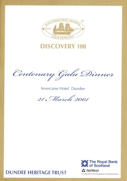 Discovery 100 Centenary Gala Dinner DUNIH 2010.46.5