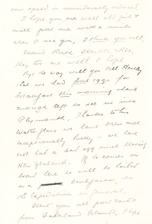 Letter from William Colbeck to Edith Robinson DUNIH 1.006