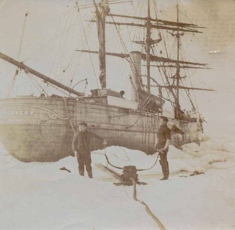 Sepia photograph of Discovery during Hudson Bay era DUNIH 2017.7