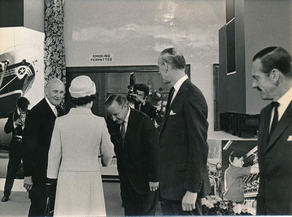 Photograph of the Queen at the exhibition of products, May 1969 DUNIH 2017.16.2.26