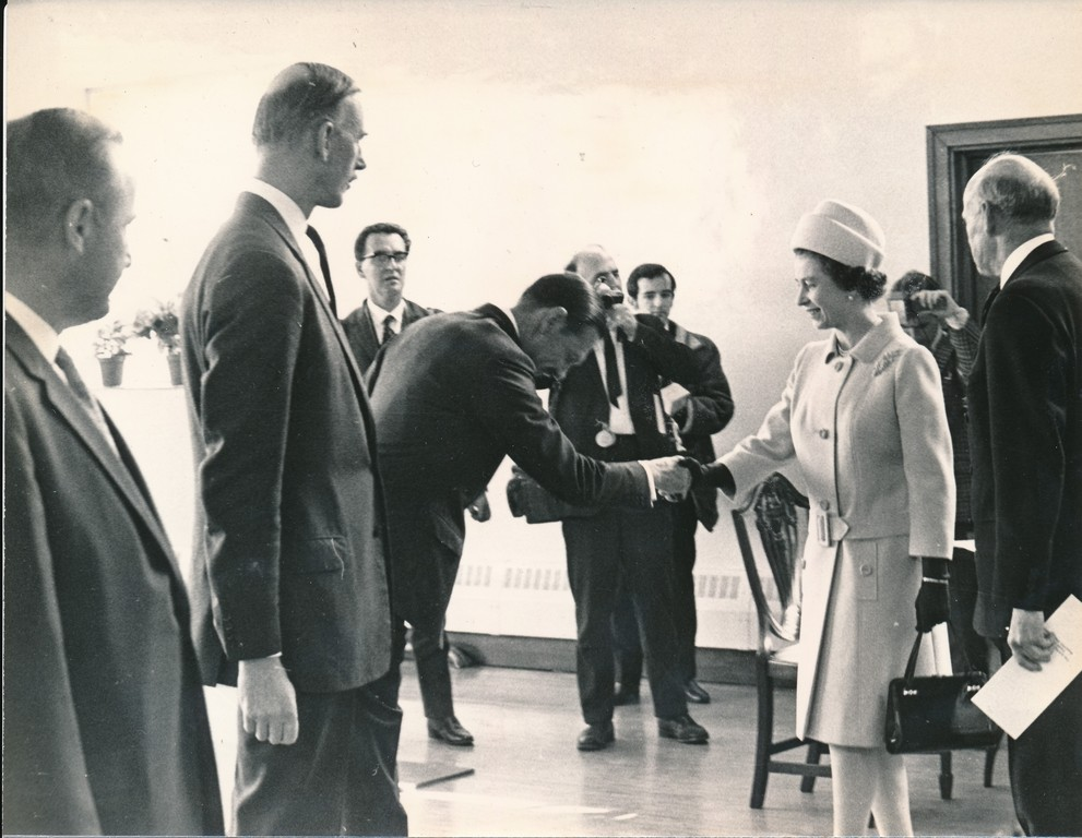 Photograph of the Queen at Royal Visit to Douglasfield, May 1969 DUNIH 2017.16.2.27