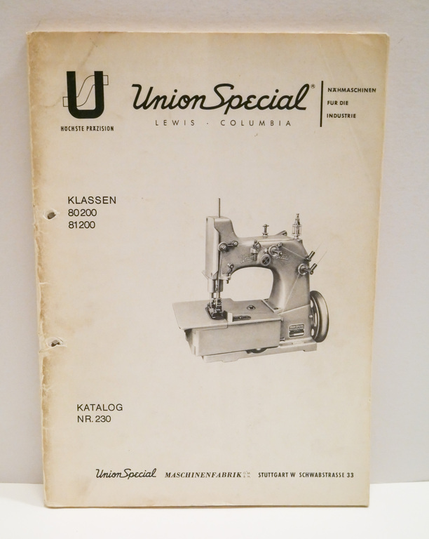 Union Special Catalogue in German DUNIH 2017.17.4.2