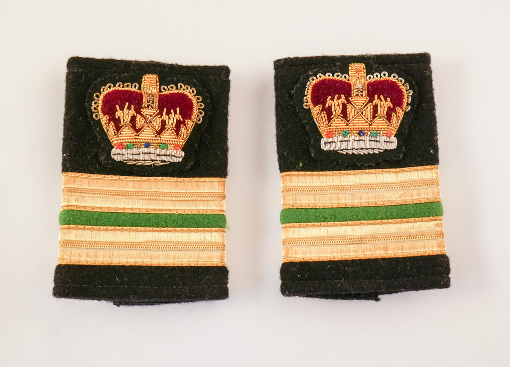 Epaulettes taken from a British Antarctic Survey uniform DUNIH 2017.25.2
