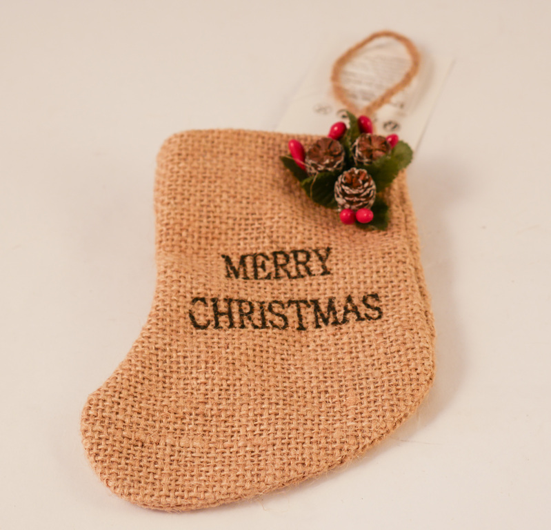 Jute Christmas Stocking DUNIH 2018.1.1