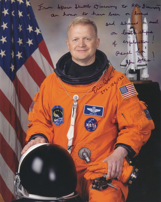 Signed photograph of NASA astronaut Eric A. Boe DUNIH 2018.7.3