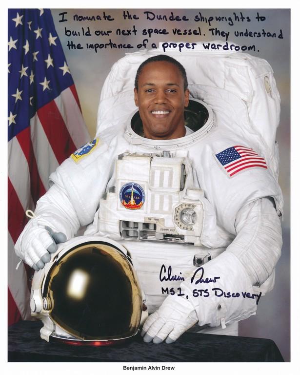 Signed photograph of NASA astronaut Benjamin Alvin Drew DUNIH 2018.7.5