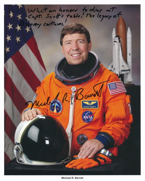 Signed photograph of NASA Astronaut Michael R. Barratt DUNIH 2018.7.6