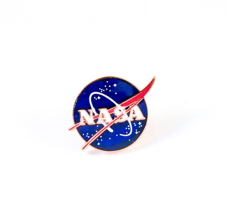 Colour enamel lapel badge, NASA DUNIH 2018.7.7