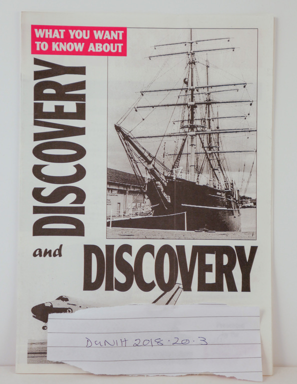 Leaflet comparing RRS Discovery and the Space Shuttle Discovery DUNIH 2018.20.3