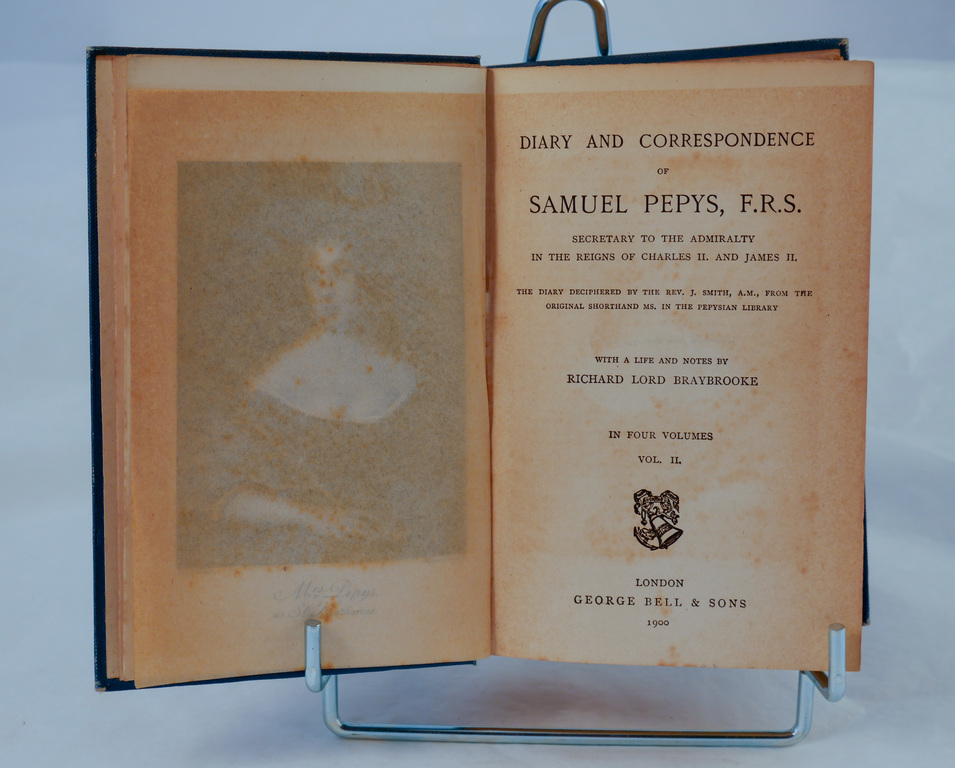 'Pepy&#39s Diary: Volume II' - Book part of Discovery 1901-1904 library&#39 DUNIH 2018.24.4.2