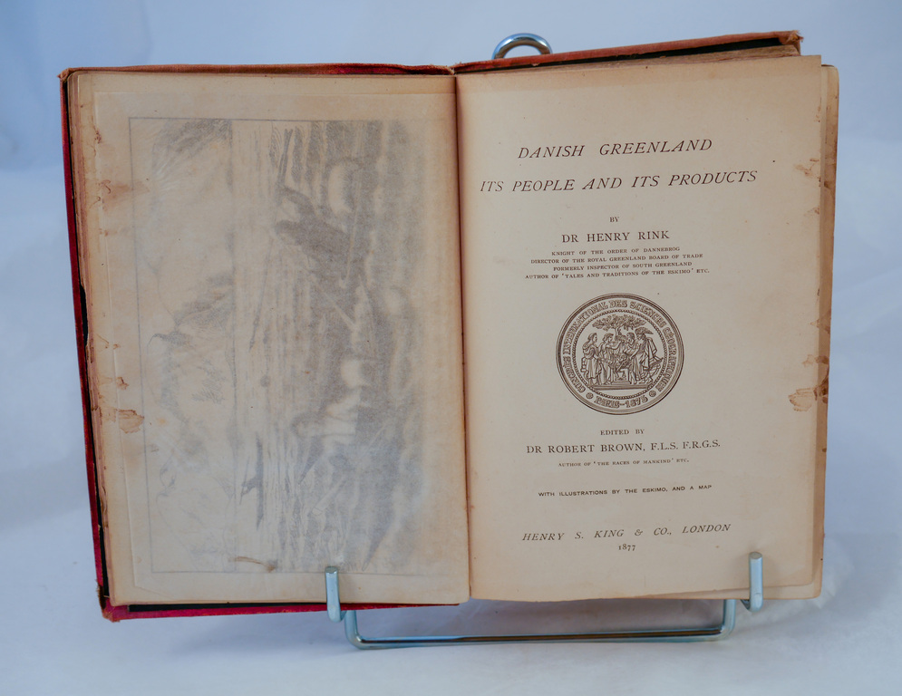 'Danish Greenland'- Book part of Discovery 1901-1904 library DUNIH 2018.24.6