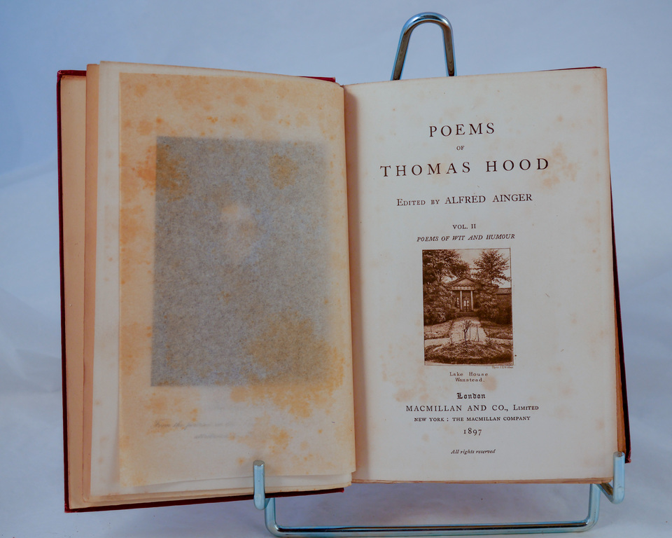 'Poems of Thomas Hood Vol II'- Book part of Discovery 1901-1904  DUNIH 2018.24.10