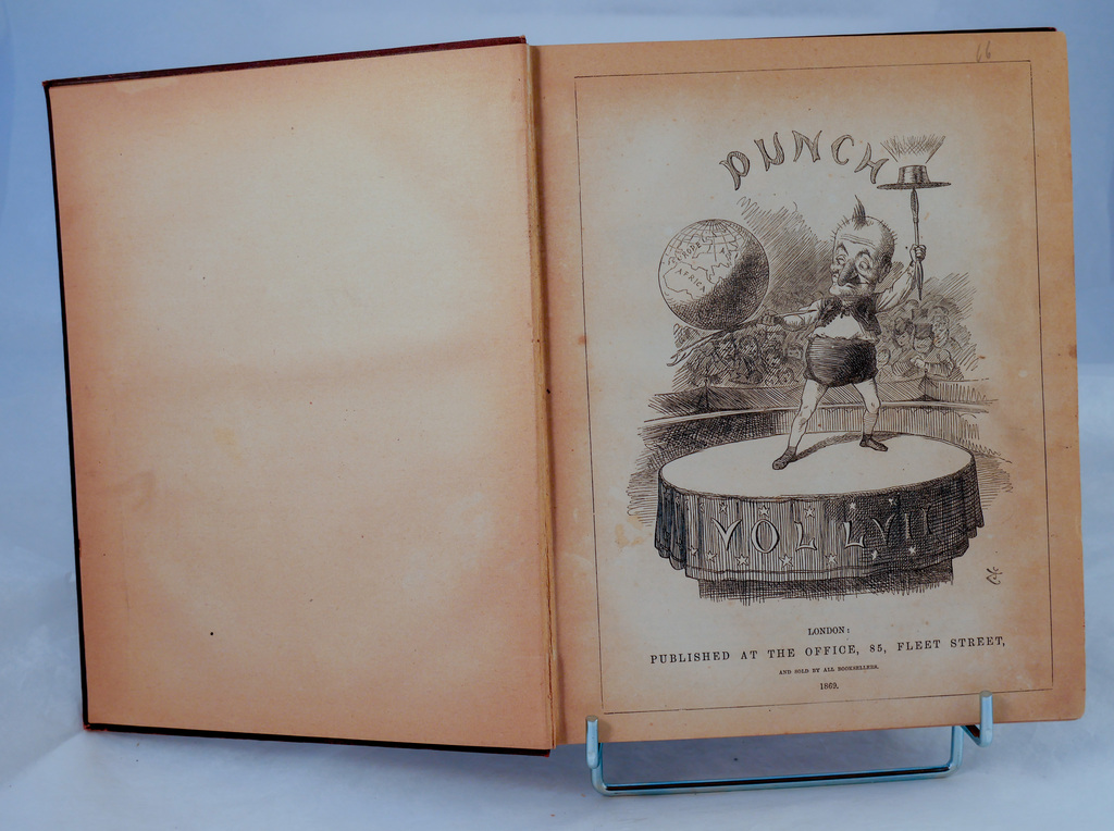 Punch magazine Vol 57 - Book part of Discovery 1901-1904 library DUNIH 2018.24.24.3