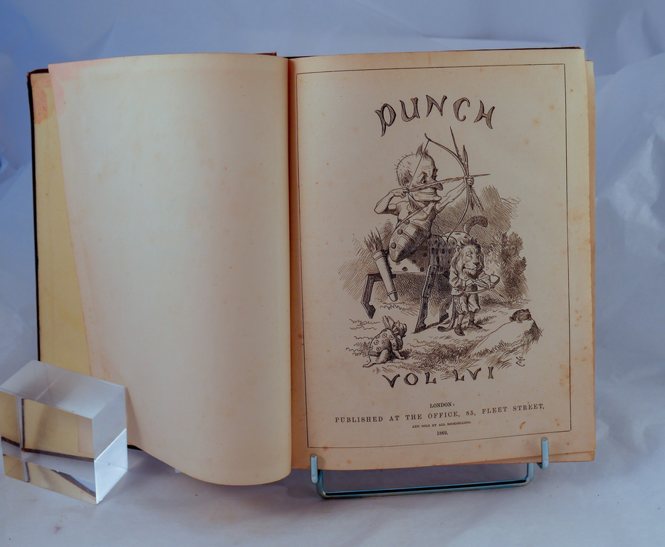 Punch magazine Vol 56 - Book part of Discovery 1901-1904 library DUNIH 2018.24.24.2