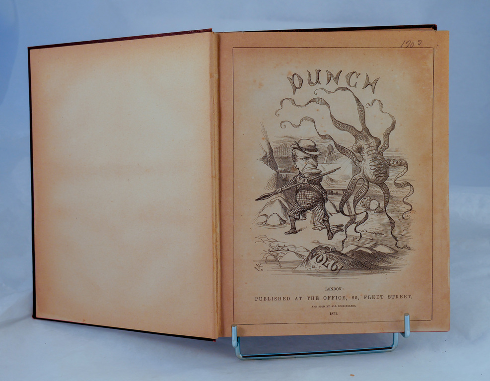 Punch magazine Vol 61 - Book part of Discovery 1901-1904 library DUNIH 2018.24.24.6