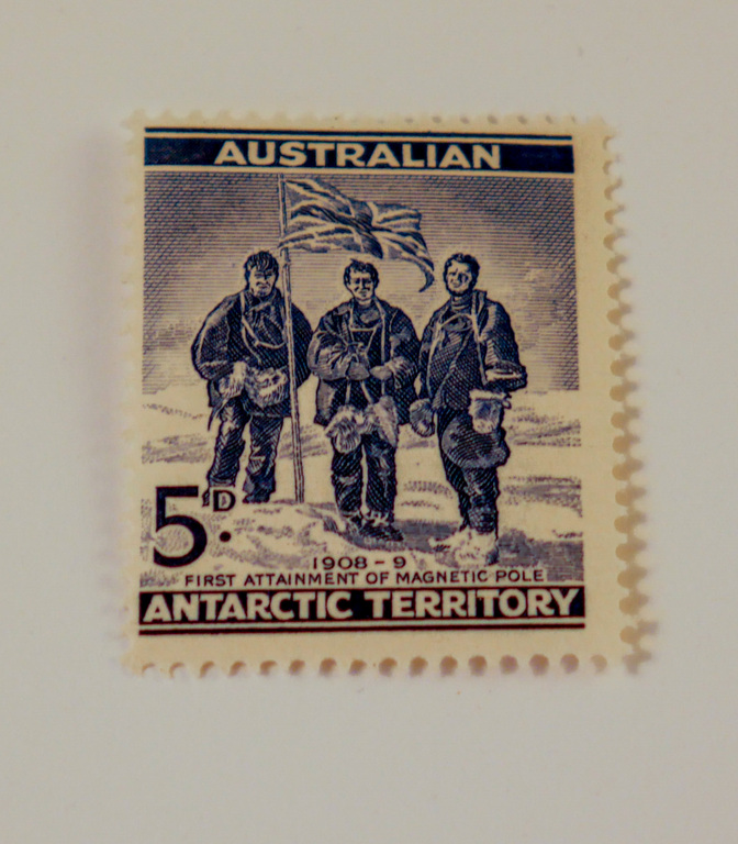 Australian Antarctic Territory stamps- First attainment of magnetic pole DUNIH 2018.27.1
