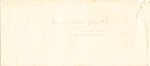 Image of Envelope of private letters sent by William Colbeck DUNIH 1.001