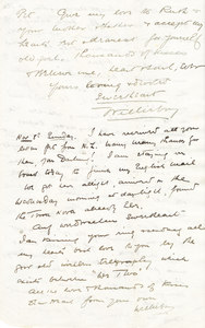 Image of Letter from William Colbeck to Edith Robinson DUNIH 1.003