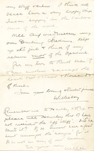 Image of Letter from William Colbeck to Edith Robinson DUNIH 1.005