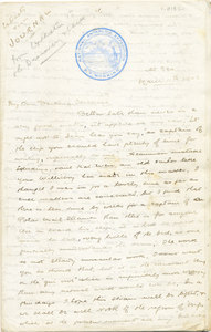 Image of Letter from William Colbeck to Edith Robinson DUNIH 1.013