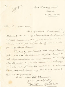 Image of Copy extracts of Colbeck's diary sent to Sir C. Markham DUNIH 1.019