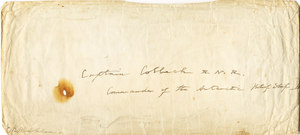 Image of Envelope from Lyttelton Harbour to William Colbeck DUNIH 1.025