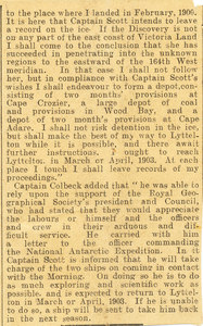 Image of Newspaper cutting re. dinner held in Colbeck's honour DUNIH 1.042