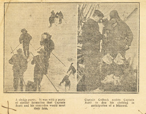 Image of Newspaper cutting re Colbeck's photo tribute to Scott DUNIH 1.047