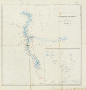 Image of Map of British Antarctic Expedition 1907 DUNIH 1.069