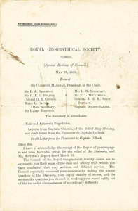 Image of Royal Geographical Society council meeting DUNIH 1.070