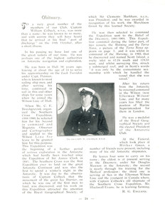 Image of Obituary of William Colbeck from 'Seven Seas' magazine DUNIH 1.072