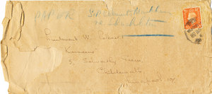 Image of Envelope: 'Paper: Sir Clements Markham re Shackleton' DUNIH 1.098