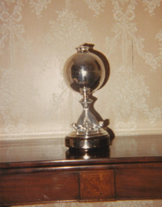 Image of Globe presented to William Colbeck. DUNIH 1.524
