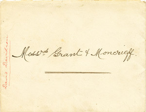 Image of Envelope relating to Messrs Grant & Moncrieff DUNIH 106.9