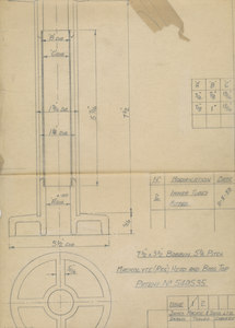 Image of Technical drawing of a Bobbin DUNIH 111.1