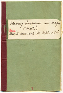 Image of Booklet re. the increase in wages between 1912-1916 DUNIH 113.2