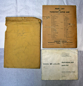 Image of Illustrations and Parts List / Model M Ludlow DUNIH 2.219.2
