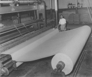 Image of Carpet backing being rolled DUNIH 200.5