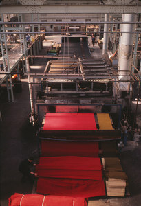 Image of Rubber backing machine used in the manufacture of jute carpeting DUNIH 2006.1.75.36