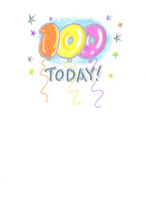 Image of 100 Today Greetings Card DUNIH 2010.46.13